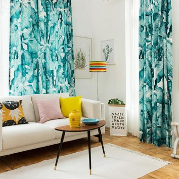 Drapes with Moonlight Banana Leaf