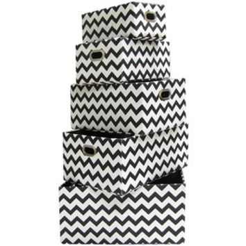 Black & White Chevron Rectangle Storage Bins | Shop Hobby Lobby