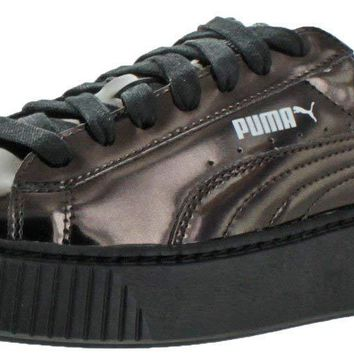 PUMA Women's Basket Platform Metallic Fashion Sneaker