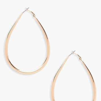 Camilla Tear Drop Hoop Earrings | Boohoo