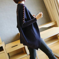 Sweater Autumn Winter  Knit Tops Batwing Sleeve Ladies Long Sleeve Jacket [9084731654]