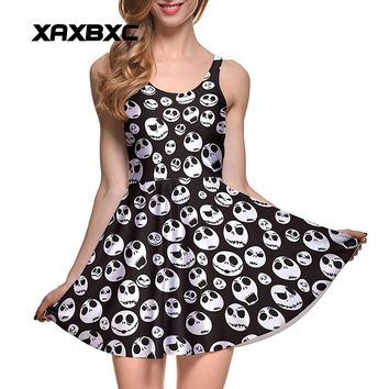 "Women's ""Jack"" The Nightmare Before Christmas Print Summer Dress"