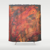 orchard Shower Curtain by Tess_Andre