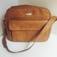 Vintage, Samsonite, Sillouette, Cordoba, Brown, Soft Side, Carryall, Hand Luggage, Overnight, Weekend, Carry On Bag, Diaper Bag