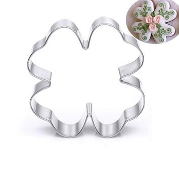 Fondant Bread Decor Jelly Baking Sushi Mould Cookie Kitchen Mold Sugarcraft Four-leaf grass Cake Tool Cutter