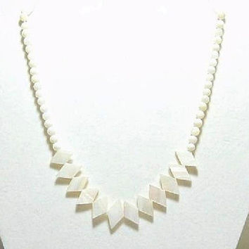Mother Of Pearl Necklace , Genuine Mother Of Pearl , Gift For Her