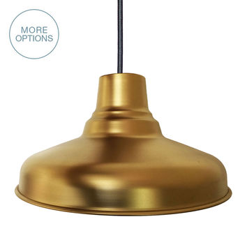 "Barn 14"" Metal Shade Pendant Light"