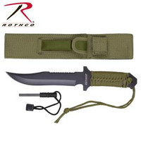 Paracord 7 Inch Knife with Fire Starter