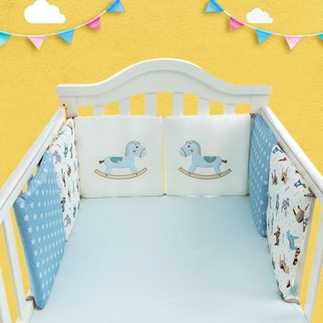 6Pcs/Lot Baby Bed Protector Crib Bumper Baby Bed Bumper in the Crib Cot Bumper Toddler Infant Bedding Set