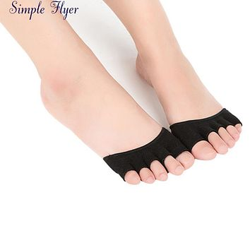 SIF  Women Invisible Hot Backless Toe Socks Half Grip Heel Five Finger Socks JUL 25