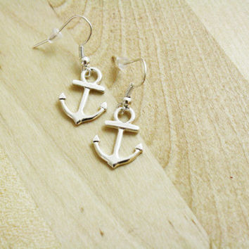 Anchor Earrings Silver Plated