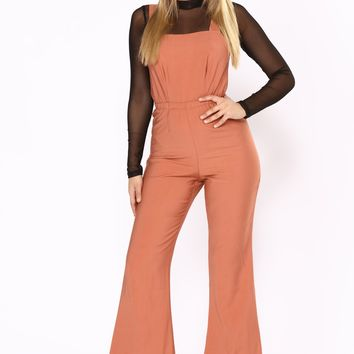 Get The Hint Jumpsuit - Rust