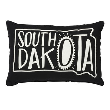 South Dakota Throw Pillow