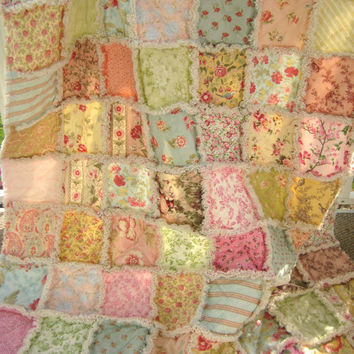 Best Shabby Rag Quilt Products on Wanelo : shabby chic patchwork quilts - Adamdwight.com