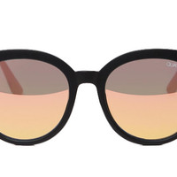 Quay x Chrisspy Jetlag Black / Rose Sunglasses