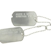 """James B Barnes """"Bucky"""" Avengers Captain America Winter Soldier Stainless Steel Military WWII Dog Tags Cosplay Costume Halloween Prop"""