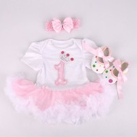 1st Birthday Fashion Set   TuTu Dress with Headband