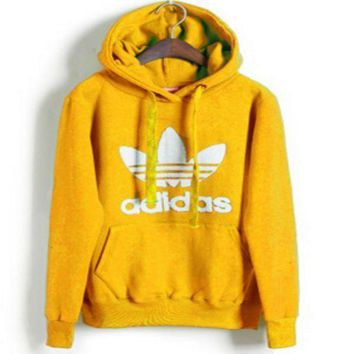 PEAPUF3 Adidas' Print Hooded Pullover Tops Sweater Sweatshirts 10/Color