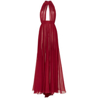 Elie Saab Silk Georgette Halter Long Dress