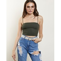 Anywhere Ribbed Crop Top