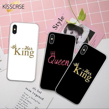 Cool KISSCASE King Pattern Case For iPhone X XS XR XS Max Slicone Case For iPhone 5s SE 6 6S Plus 7 8 Queen Back Cases Coque FundasAT_93_12