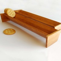 Wooden Cracker Boat  Fits Roll of Crackers  GREAT by GetNoticed