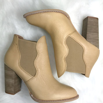 CHINESE LAUNDRY Zealous Cognac Leather Booties
