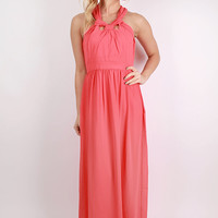 Inner Beauty Maxi Dress in Coral