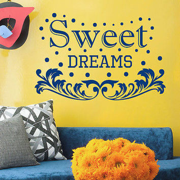 Wall Decals Quotes Sweet Dreams DecalHome Nursery Room Vinyl Sticker Decor MR536