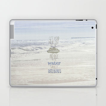 get your head out of the clouds and back in teh water where it belongs.. little mermaid Laptop & iPad Skin by studiomarshallarts