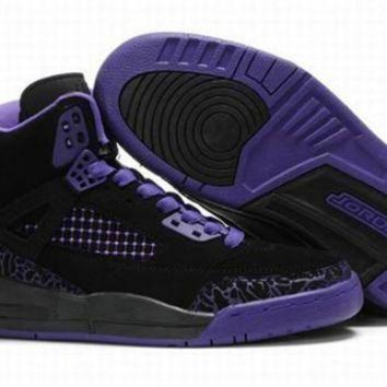Hot Air Jordan 3.5 Spizike Retro Women Shoes Black Purple