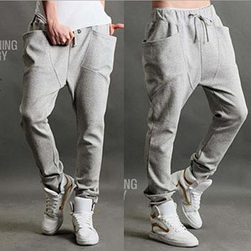 Summer Men And Women Loose Baggy Joggers Pants Thin Sweatpants Casual Tapered Hip Hop Harem Pants With Pocket Trousers