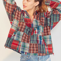 Ecote Fey Madras Popover Jacket | Urban Outfitters