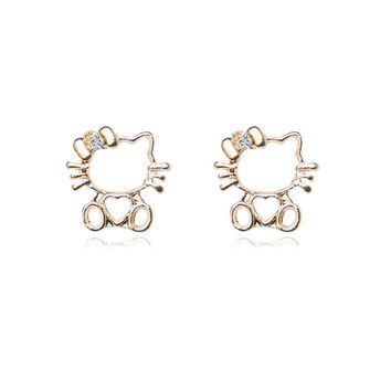 Hello Kitty Stud Cute Earrings for Women