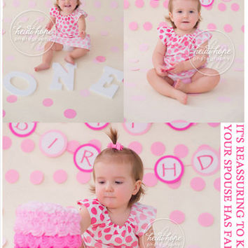 Baby Birthday Photography Backdrops Vinyl Photo Studio Backdrop Pink Small Spot Background Cute Baby Girl For Newborn CM-6720