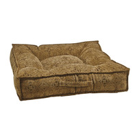 Piazza Dog Bed - Pecan Filigree (Microvelvet)