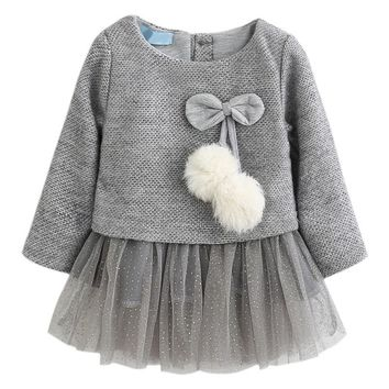 Winter Baby Girls Dress Long-Sleeve Princess Dress Ball Of Little Kids Clothes Children Party Cute Autumn Dresses