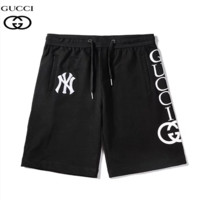 GUCCI & NY New fashion embroidery letter print high quality sport shorts Black