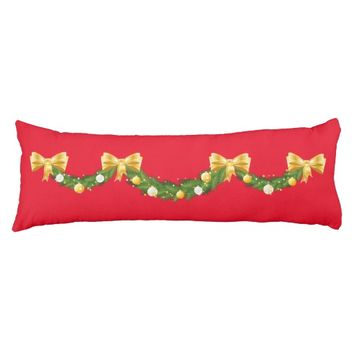 "Christmas Swag Body Pillow ( 20"" x 54"")"
