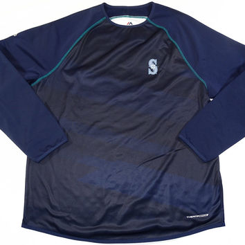 Seattle Mariners Majestic ThermaBase On-Field Training Pullover Size L