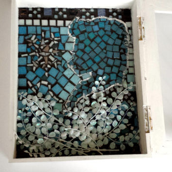 Snow Queen Fairytale Art Wall Hanging Display ShadowBox Mosaic featuring Snowflake Large