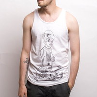 Rum Knuckles: Geisha Tank Top White, at 22% off!