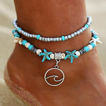 Ocean Waves Anklets