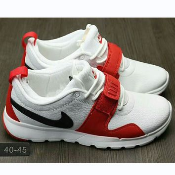One-nice™ NIKE Trending Fashion casual sports running board shoes White red I-HAOXIE-ADXJ