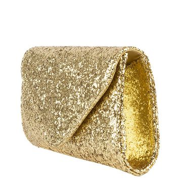 Glitter Clutch in Gold