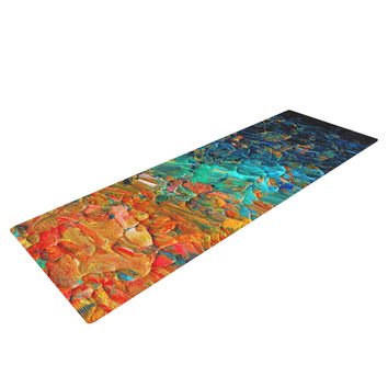 "Ebi Emporium ""Eternal Tide II"" Teal Orange Yoga Mat"