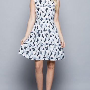 Coolest Cactus Print Dress