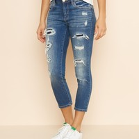 Ash Blue High Waist Crop Jegging