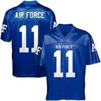 Air Force Falcons #11 Fan Football Jersey - Royal Blue
