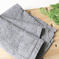 Linen tea towel- rustic kitchen towel- blue towel- softened dish cloth- country style towel- hand towel- kitchen linens- dishcloths